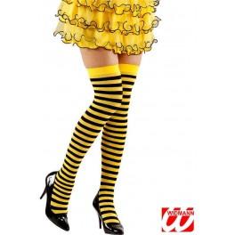 Chaussettes rayées jaune et noire