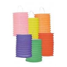 Lampion cylindrique 16 cm (coloris assortis)
