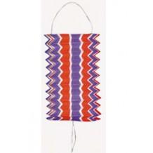 Lampion cylindrique 16 cm tricolore